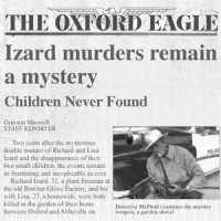 Two years after the Izard tragedy, the Oxford Eagle reported on the status of the investigation