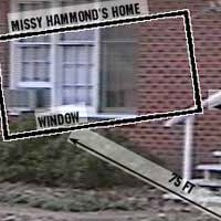 Just what could Kevin Travers see of Missy's place from his house?