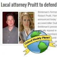 Local attorney Pruitt to take over defense of accused killer Brinkman