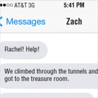 Rachel received some disturbing text messages from Zach on Sunday evening