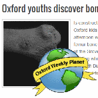 Kids find bone at construction site
