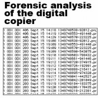 Forensic analysis of the Harte Agency's photocopier