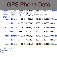 Victim's cell phone GPS data for the week before her murder