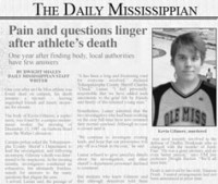 The Daily Mississippian reports on the anniversary of Kevin's death