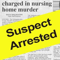 The local newspaper reports on the arrest of Jerry Shaw's alleged killer