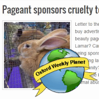 Pageant sponsors cruelty to animals