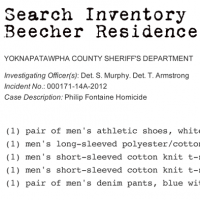 Search of Joey Beecher's residence and person