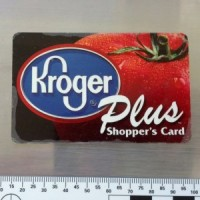 Whose Kroger card was found at the crime scene?