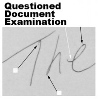 Questioned document examiners analyzed the handwriting on the business card