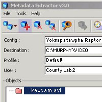 Metadata and EXIF data from key chain camera