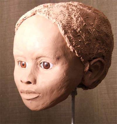forensic reconstruction - left profile