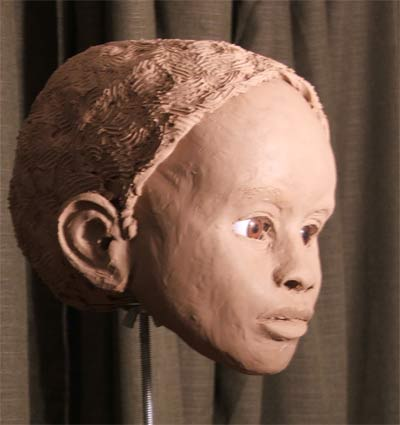 forensic reconstruction - right profile