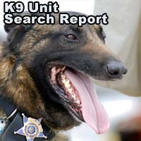 K-9 unit report on the Daniels search