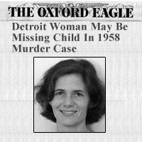 Print newspaper front page with photo of an adult woman