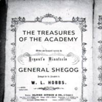 General Shegog's poem, Treasures of the Academy