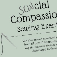 Excerpt of a flyer for a charity sewing event