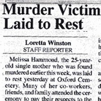 The Oxford Eagle covers the funeral for young mother Missy Hammond