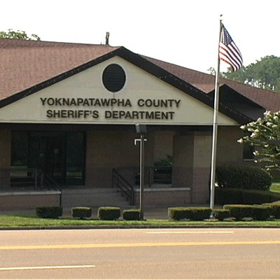 Exterior of the Yoknapatawpha County Sheriff's Department building