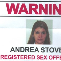 COP published a flyer alerting the community to Andrea Stover's presence