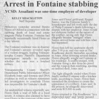 Press coverage of arrest in fontaine murder