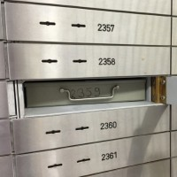 Photo of safe deposit boxes