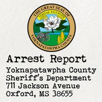Seal of Yoknapatawpha County with the label 'Arrest Report'