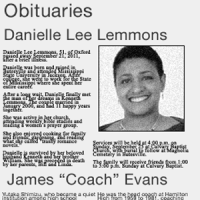 Danielle Lemmons obituary from the local newspaper's archives