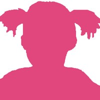 Silhouette of a female child