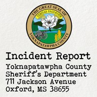 Emergency Services received a 911 call reporting a body at the Yoknapatawpha County Conference Center