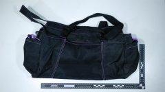 "002641-35: One (1) black duffel bag, 18"" x 12"" x 12"""