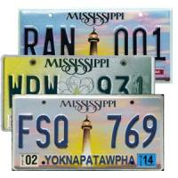 License plates of Jennings visitors