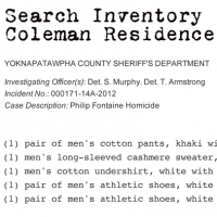 Search of Bruno Coleman's residence and person