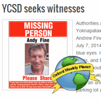 YCSD seeking missing person Andrew Fine