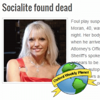 Oxford socialite found dead
