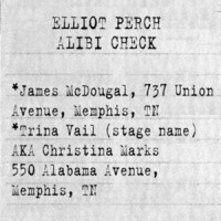 1958 YCSD investigators attempted to verify union organizer Elliot Perch's alibi