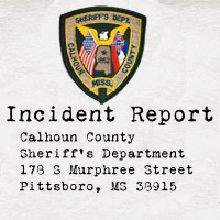 Calhoun County Sheriff's Dept incident report