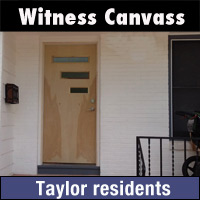 Canvass of Taylor residents
