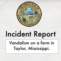 Vandalism incident report