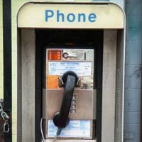 Willie's Fuel & Bait pay phone