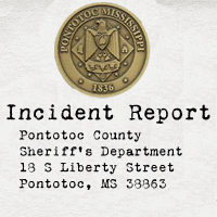 Pontotoc County Sheriff's Dept incident report