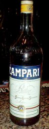 Campari liqueur bottle recovered from Coates residence
