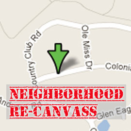 Re-Canvass – Smith/O'Connor neighbors