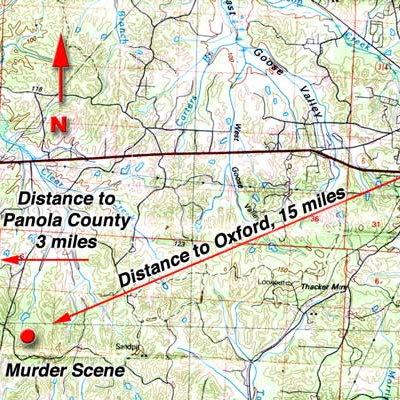 Crime scene location