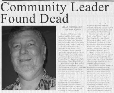 Community leader found dead