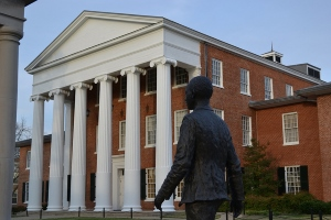 The Lyceum building with James Meredith statue in foreground