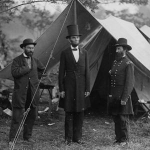 President Lincoln at the Antietam Civil War battlesite