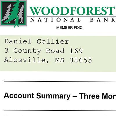 Collier bank statement