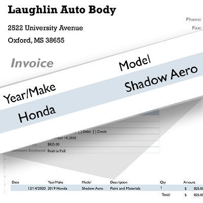 Laughlin customer invoice