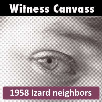 What do the Izards' neighbors know?