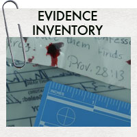 Inventory of evidence collected at the Martinson crime scene